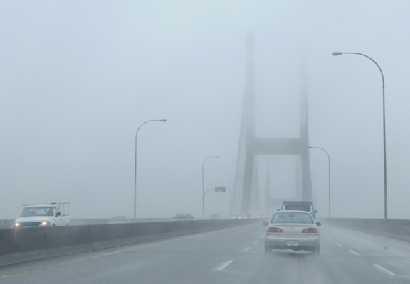 Wet Weather Alex Fraser Bridge