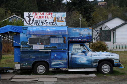 Fries Truck, Jordan River BC, 2011