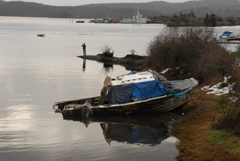 Derelict Boat, Coopers Cove Sooke, BC 2008