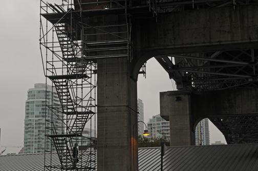 Granville Street Bridge Scaffolding, Vancouver BC, 2013