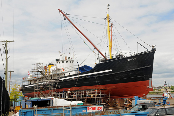 The Uchuck III at the Point Hope Maritime Drydock in Victoria, BC. 2014.