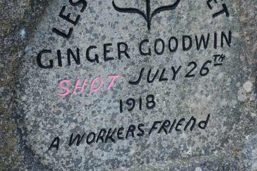 Grave Site of Ginger Goodwin, Cumberland, BC 2011 2