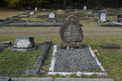 Grave Site of Ginger Goodwin, Cumberland, BC 2011