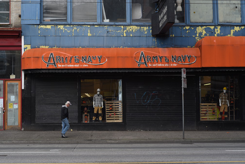Army & Navy Store, East Hasting Street, Vancouver, BC 2016