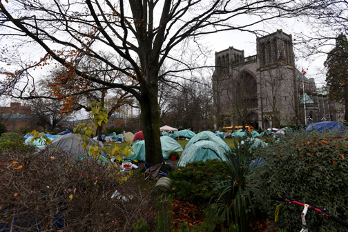 Tent city for the homeless, Victoria, BC 2015