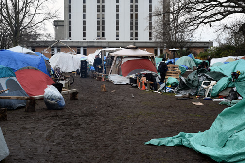 Tent city for the homeless, Victoria, BC 2016