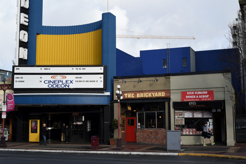 The Odeon, Brickyard and Efes, Yates Street, Victoria, BC 2016