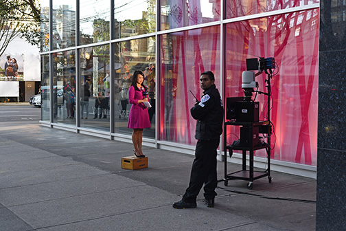 CTV Broadcast, Robson Street, Vancouver, British Columbia 2016
