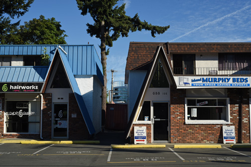 Hair salon and Murphy beds, Langford, British Columbia 2017