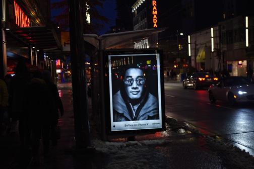 Selfie Bus Shelter Poster, Granville Street, Vancouver, British